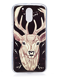 For Motorola MOTO G4 Case Cover Deer Pattern Luminous TPU Material IMD Process Soft Phone Case
