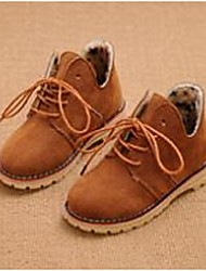 Girl's Boots Comfort Suede Casual Brown / Red