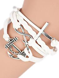 Feminino Bracelete Liga Moda Confeccionada à Mão Formato de Cruz Jóias 1peça