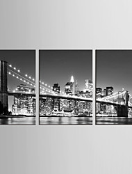 Canvas Set Landscape / Fantasy Modern / Classic,Three Panels Canvas Vertical Print Wall Decor For Home Decoration