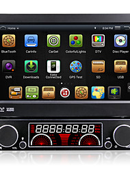 7 pulgadas 4.4.4 sistema multimedia coches reproductor de DVD 1 DIN androide pantalla retráctil automática panel desmontable antirrobo