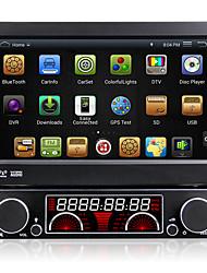 7 polegadas 4.4.4 1 din carro dvd player sistema multimídia tela retrátil automática android painel destacável anti-roubo dr7091lt
