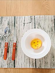 Carré Impression / Avec motifs / Fleur Sets de table , Coton mélangé Matériel Hôtel Dining Table / Tableau Dceoration