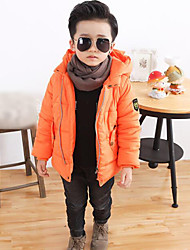 Boy's Casual/Daily Solid Suit & BlazerCotton Winter Blue / Orange