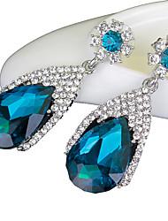 Ohrring Saphir Tropfen-Ohrringe Schmuck Damen Hochzeit / Party / Alltag Krystall 1 Paar Königsblau