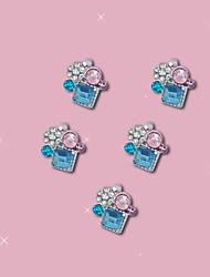 B631 10Pcs/lot 3D Alloy Glitter Rhinestone Jewelry 10.5mm*9mm  DIY Decorations Nail Art Tips Stickers