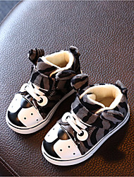 Boy's Boots Fall Winter Comfort Fleece Casual Flat Heel Gray