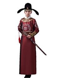 Costume de Soirée Bal Masqué Cosplay Fête / Célébration Déguisement Halloween Rouge Jaune Couleur Pleine Noël Masculin Nylon