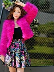 Femme Jupes,Balançoire Trapèze Fleur Blocs de Couleur Plissé,Taille Haute Vintage Bohème Street Chic Au dessus des genouxSortie Plage