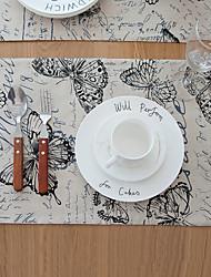 Rectangulaire Imprimé Sets de table , Coton mélangé Matériel Hotel Dining Table Tableau Dceoration