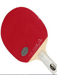 1 звезда Настольный теннис Ракетки Ping Pang Дерево Короткая рукоятка Прыщи В помещении-#