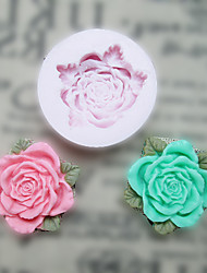 Flower With Leaves Silicone Mold Fondant Molds Sugar Craft Tools Resin flowers Mould Molds For Cakes