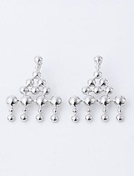 Non Stone Drop Earrings Jewelry Women Daily Casual Sterling Silver 1 pair Silver