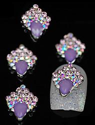 10шт фиолетовый уникальный блеск для поделок сплава аксессуары ногтей украшения