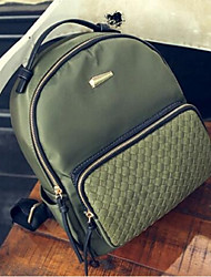 Casual Backpack Women Oxford Cloth Green Black