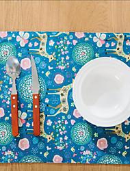 Carré Impression / Avec motifs / Animal Sets de table , Coton mélangé Matériel Hôtel Dining Table / Tableau Dceoration