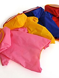 Cat / Dog Rain Coat Red / Yellow / Blue / Pink Dog Clothes Winter / Summer / Spring/Fall Solid Waterproof (Random Color)