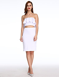 Women's Ruffle Two-piece Skirt Set