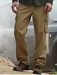 Masculino Reto Chinos Calças-Cor Única Casual Moda de Rua Cintura Média Zíper Algodão Micro-Elástico Todas as Estações