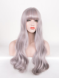 Hot Selling Grey Color Wave Synthetic Wigs For Afro Women