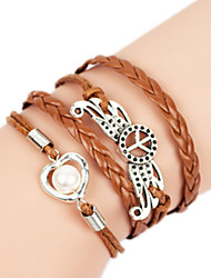 Bracelet Bangles Alloy Others Handmade Birthday / Daily Jewelry Gift Khaki,1pc
