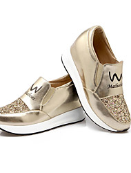 Feminino-Tênis-Plataforma Sapatos com Bolsa Combinando-Plataforma-Azul Rosa Prateado Dourado-Courino-Ar-Livre Casual