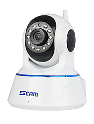 ESCAM® QF002 720P 1.0 MP IP Camera PT Indoor with Day Night Motion Detection Remote Access IR-cut Audio 32G TF Card
