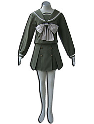 Inspiré par Shakugan no Shana Cosplay Anime Costumes de cosplay Costumes Cosplay Couleur Pleine Top / Jupe / Noeud Pour Féminin