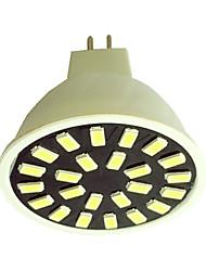 5W GU5.3(MR16) Faretti LED G50 24LED SMD 5733 350LM-400LM lm Bianco caldo / Luce fredda AC110 / AC220 V 1 pezzo