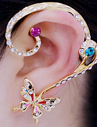 Clip Earrings Alloy Rhinestone Simulated Diamond White Rainbow Jewelry Party Daily Casual 1set