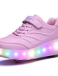 Kids Boy Girl's Roller Skate Shoes / Ultra-light Two Wheel Skating LED Light Shoes / Athletic / Casual LED Shoes Black Pink Blue