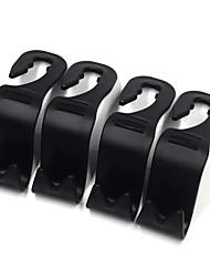 Autositzkopfstütze Haken vier Pack schwarz