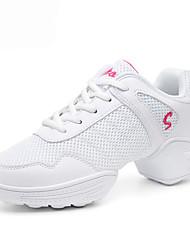 Chaussures de danse(Noir / Blanc) -Non Personnalisables-Talon Bottier-Cuir-Moderne