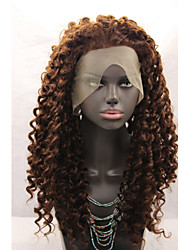 Synthetic Lace Front Wigs Brown Hair Water Wave Synthetic Wigs
