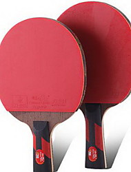 Table Tennis Rackets Ping Pang Wood Long Handle Pimples 1 Racket 1 Table Tennis Bag Indoor-#