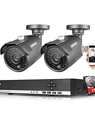 ANNKE® 4CH 1080N AHD DVR 1.3MP 720P Outdoor Indoor IR Security Camera System 1TB HDD