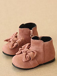 Girl's Boots Winter Comfort Fleece Casual Flat Heel Pink