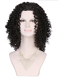 6A Synthetic Cosplay Wigs Women's Long Afro Kinky Curly Wave Black Wig Heat Resistant Fiber Wig