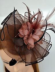 Women's Feather Tulle Headpiece-Wedding Special Occasion Fascinators 1 Piece