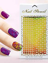 New Nail Art Hollow Stickers Love Heart Shape Star Flower Geometric Alphabet Design Nail Beauty K011-020