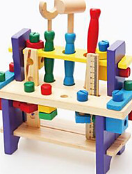 Building Blocks / Educational Toy For Gift  Building Blocks Leisure Hobby Square Wood 2 to 4 Years Rainbow Toys