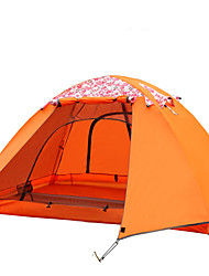 FlyTop® 3-4 persons Tent Double Fold Tent One Room Camping Tent 2000-3000 mmMoistureproof/Moisture Permeability Waterproof Breathability