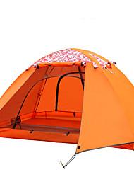FlyTop® 3-4 personnes Tente Double Tente pliable Une pièce Tente de camping 2000-3000 mmRésistant à l'humidité Etanche Respirabilité