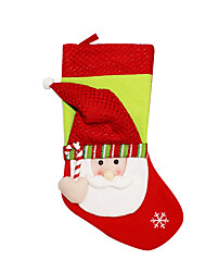 Christmas Toys / Gift Bags Holiday Supplies Santa Suits / Elk / Snowman Textile Red / White / Yellow All