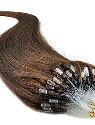 """20 """"Jet Black (# 1) 100s Remy circuito micro extensões de cabelo humano"""