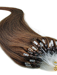 "20"" jet negro (# 1) 100s extensiones de cabello humano de bucle micro"