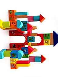 Building Blocks For Gift  Building Blocks Leisure Hobby Square Wood 2 to 4 Years 5 to 7 Years 8 to 13 Years Rainbow Toys