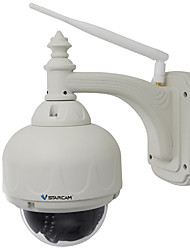VStarcam® 1.0MP Wi-Fi Waterproof Security Surveillance IP Camera (PTZ/4X Zoom 15m Night Vision P2P Support 128GB TF)