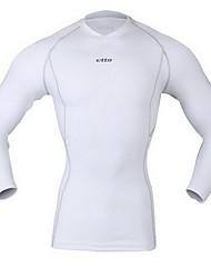 Homme Tee-shirt de Course Manches Courtes Séchage rapide Respirable Anti-transpiration Couches de base Hauts/Top pour Exercice & Fitness