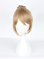 Cosplay Wigs Cosplay Cosplay Yellow Short / Ponytails Anime Cosplay Wigs 35 CM Heat Resistant Fiber Female